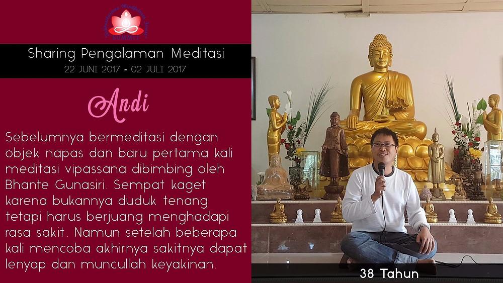 Meditasi kenapa sakit? - Sharing oleh ANDI