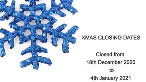 Xmas Closing Dates