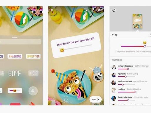 """Instagram Stories ganha enquete com """"Emoji Deslizável"""""""