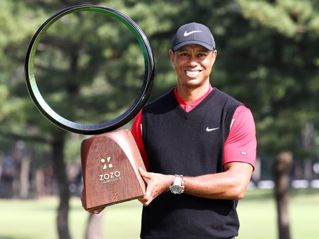 TIGER WOODS (USA) WINS 82ND TITLE AT CHIBA