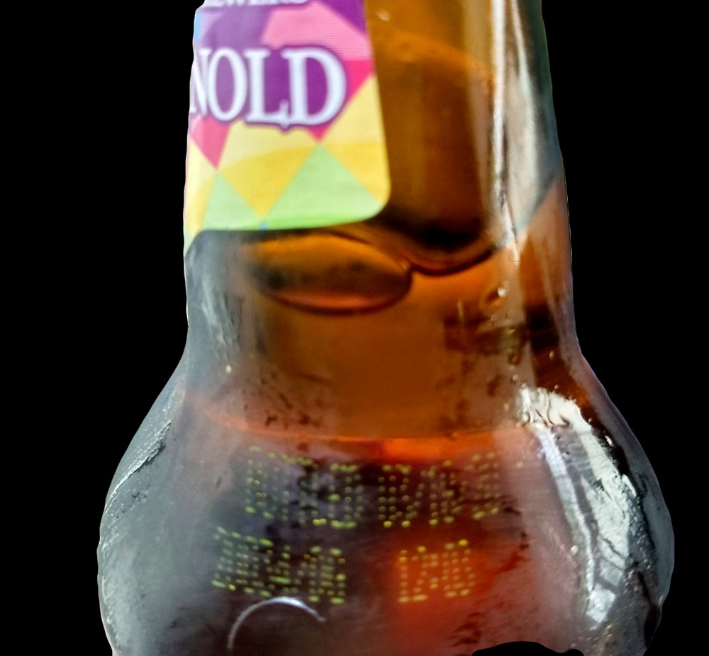 This is an example of a bottled on date for Saint Arnold Brewing's beer.
