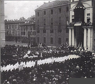 Inauguration of the headquarters of largo Gemelli in 1930