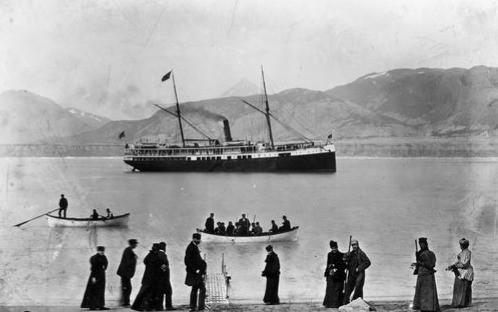 SS Topeka, Glacier Bay, 1890