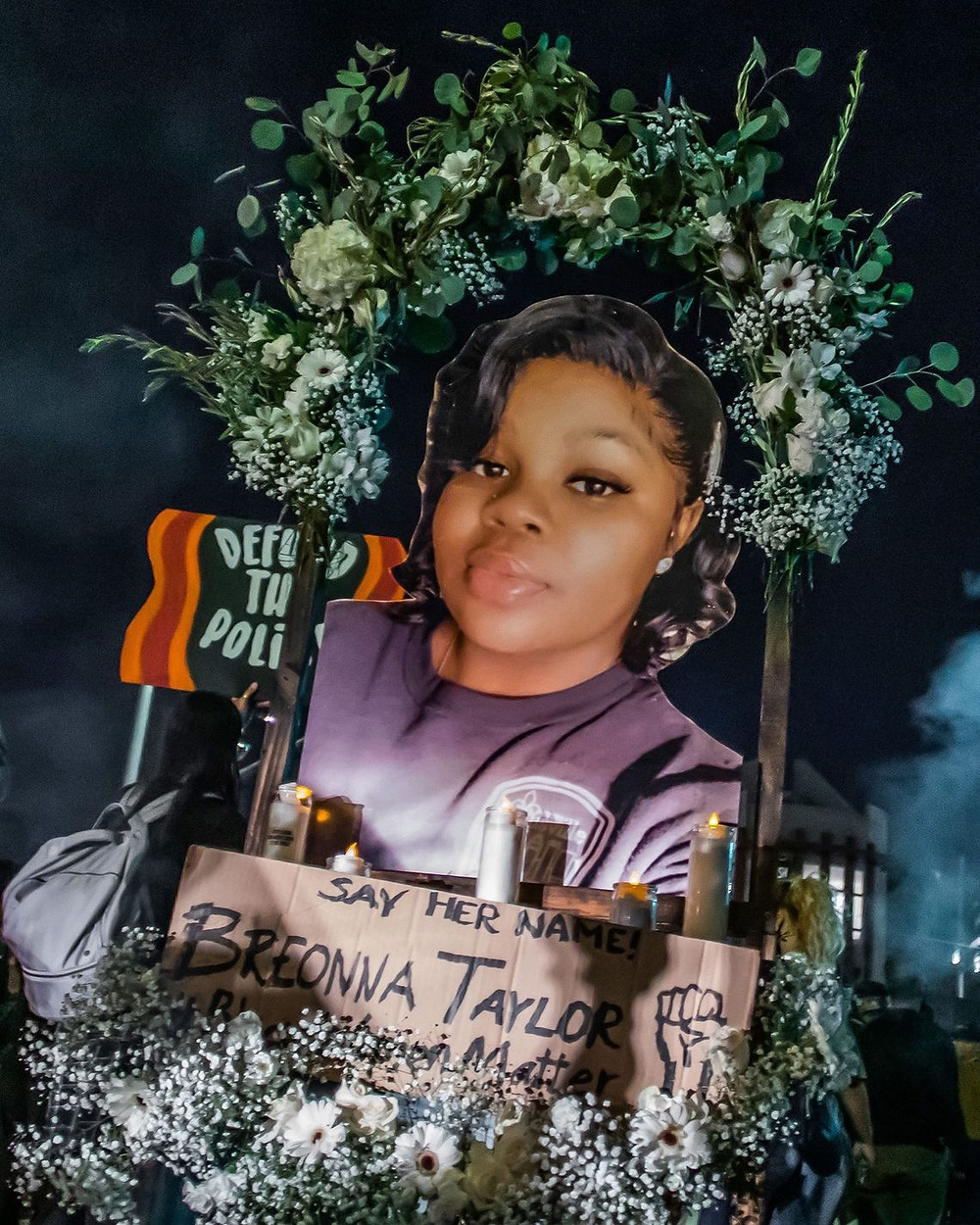 Memorial for Breonna Taylor, victim of police brutality.