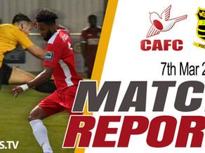 Match Report - Cheshunt