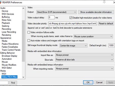 Reaper Video Optimizations