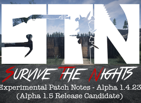Alpha Devblog #17 - Experimental Patch Notes - Alpha 1.4.23 (Alpha 1.5 Release Candidate)