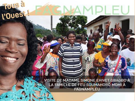 FAGNAMPLEU  : VISITE DE MADAME SIMONE EHIVET GBAGBO À LA FAMILLE DE FEU SOUMAHORO MOMI
