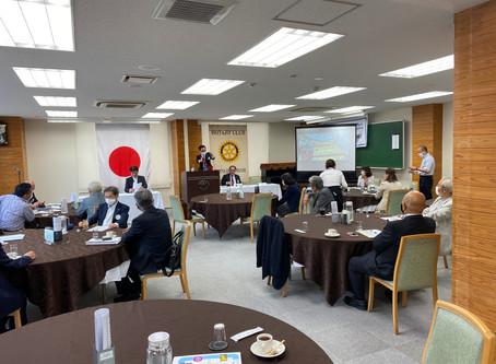 恩田会長・天道幹事年度第2回例会(通算第1825回)を開催致しました。