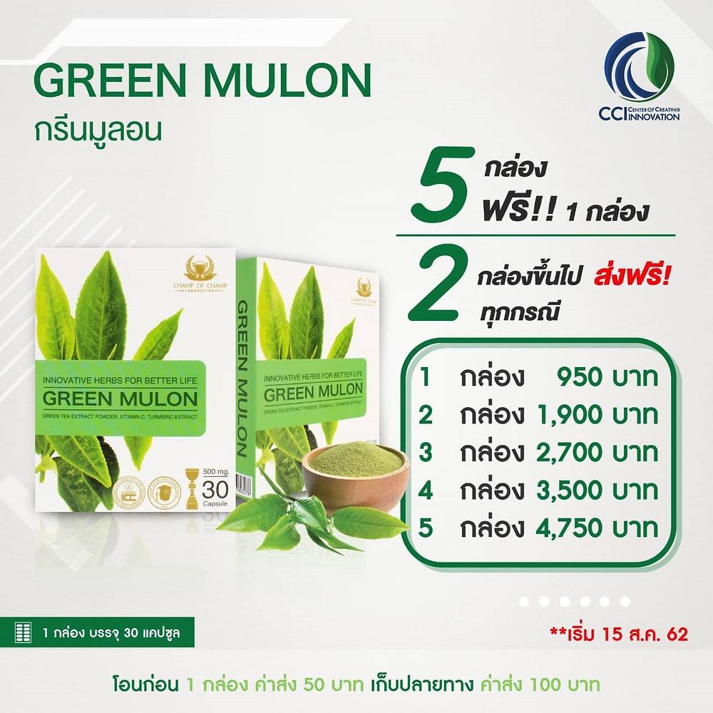กรีนมูล่อน Green mulon รักษาลมพิษเรื้อรัง ลมพิษผื่นคัน โรคหอบหืด แพ้อากาศ แพ้ฝุ่น แพ้ไรฝุ่น ภูมิแพ้เรื้อรัง