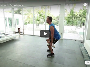 Squat with dumbbells
