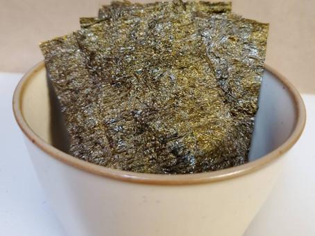 3-Ingredient Roasted Seaweed Chips