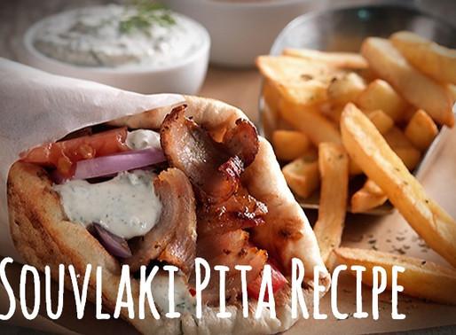 Greek Pork Souvlaki Pita