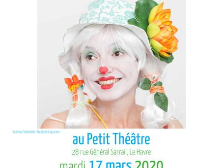 Annonce : Spectacle au Havre le 17 mars 2020