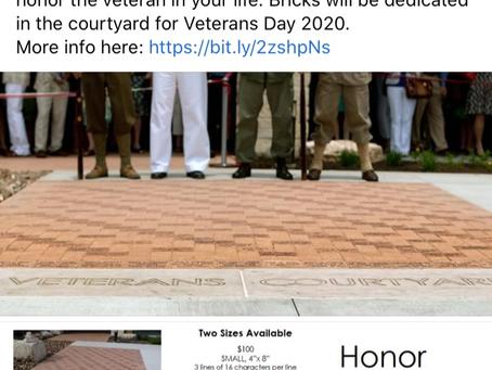 Memorial Day Commemorative Bricks