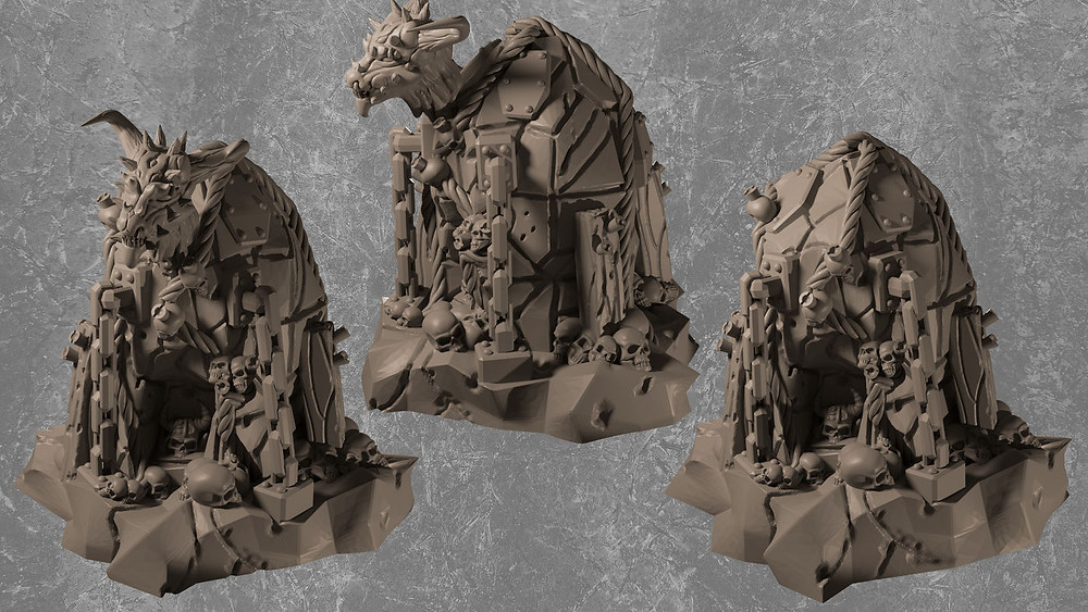 Demonic chaos sacrifice stone (Resin Miniature)