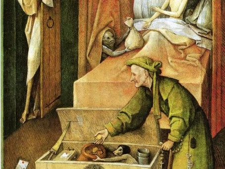 Bosch - Death and the Miser