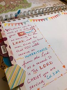 Inheritance page in BibleQuiltJournal