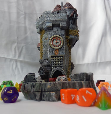 Clock tower (Dice tower for Dungeons and Dragons from Mystic Pigeon Gaming)