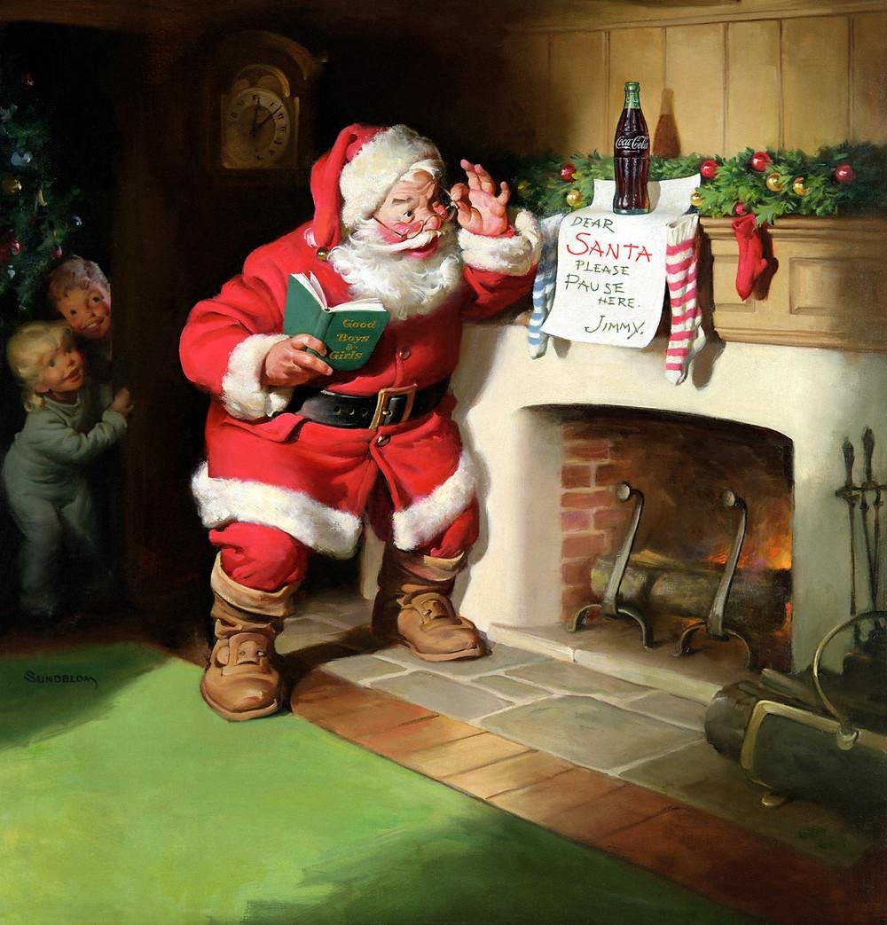 Santa Claus de Coca Cola.