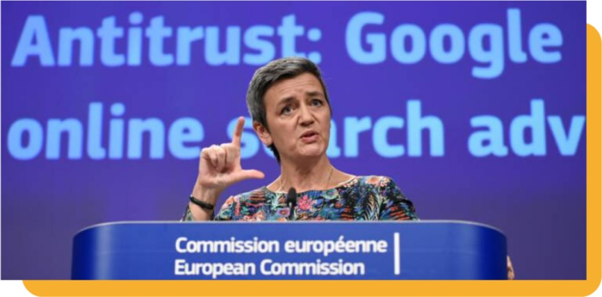 Google illegal behaviour EU competition rules law