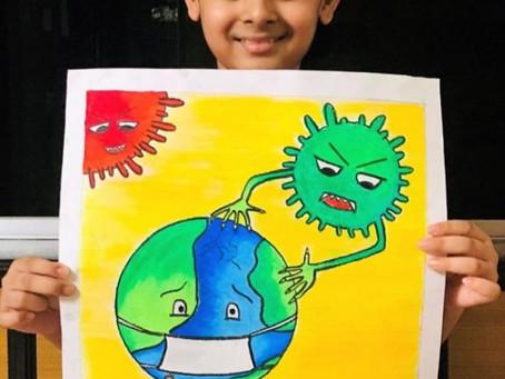 Children Anti-COVID Artwork