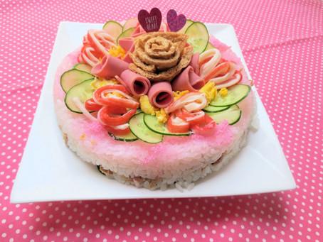 ひな祭りケーキ寿司 2