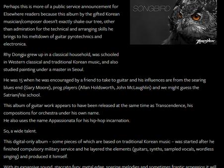 Elsewhere Magazine reviewed Lions'den - Songbird
