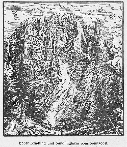 Sandlingturm, Werkszeitung Salinen April 1928