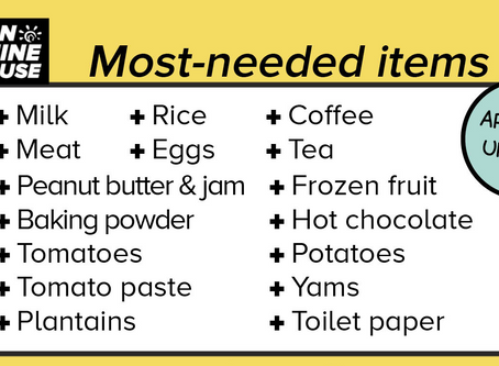 Updated Most-Needed Items List
