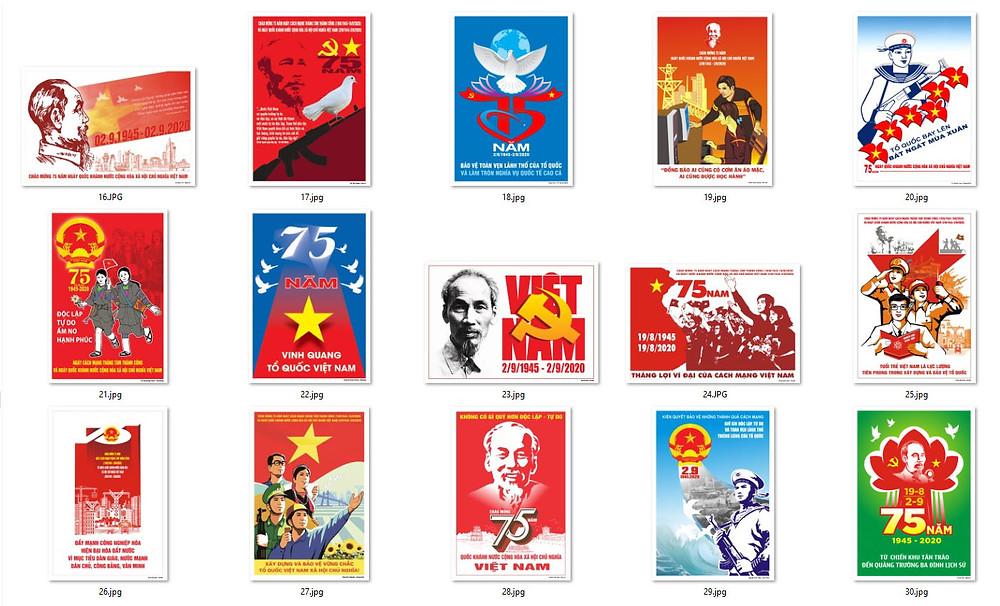 Bộ Tranh Cổ Động 75 Năm Cách Mạng Tháng Tám và Quốc Khánh 2-9 Chất Lượng Cao Part02