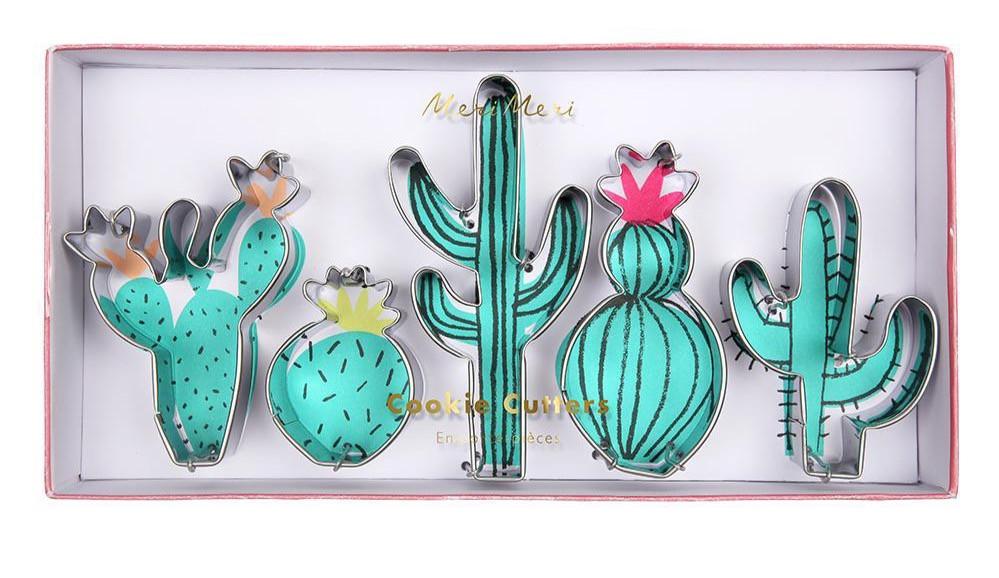 Meri Meri Cookie Cutters Cactus green steel Party