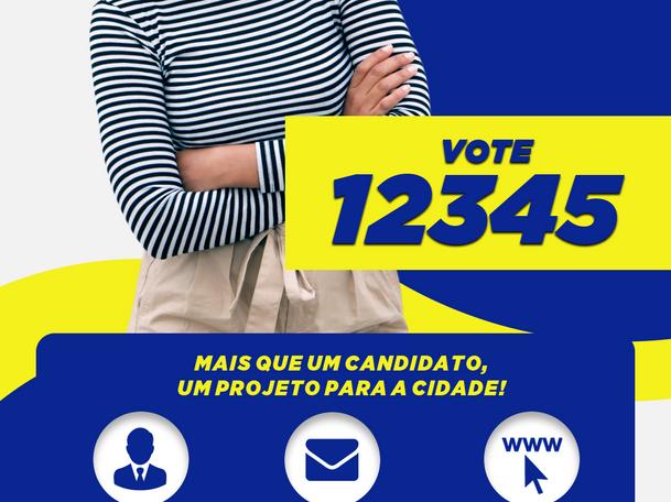 Santinho interativo como estratégia eleitoral.