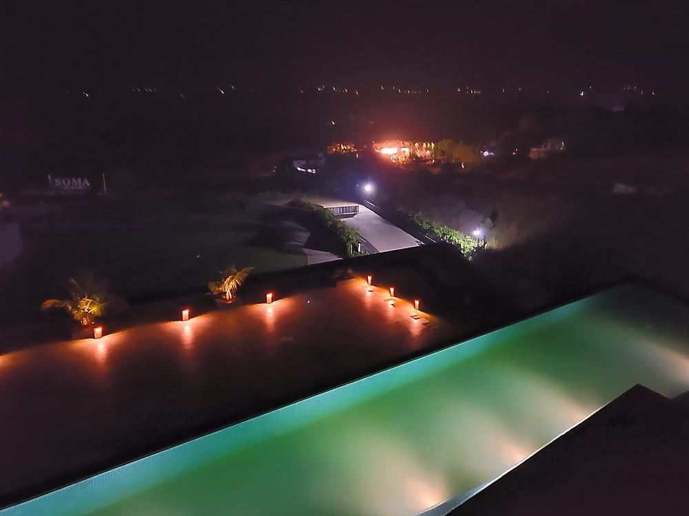 Aria Resort and Spa night view