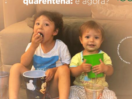 Filhos em casa na quarentena: e agora?