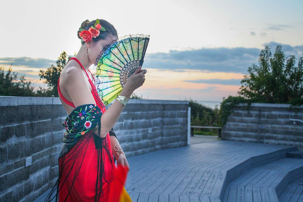 Echoing Waters Flamenco Dancer Costume