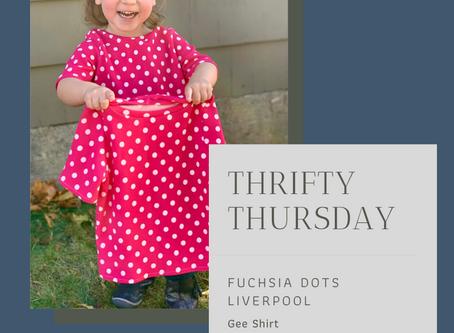 Thrifty Thursday - Fuchsia Dots Liverpool Gee Tee