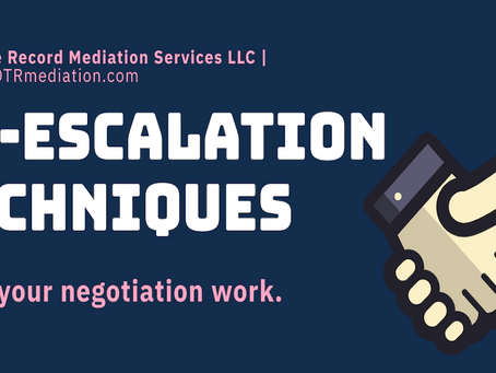 Six De-escalation Techniques.