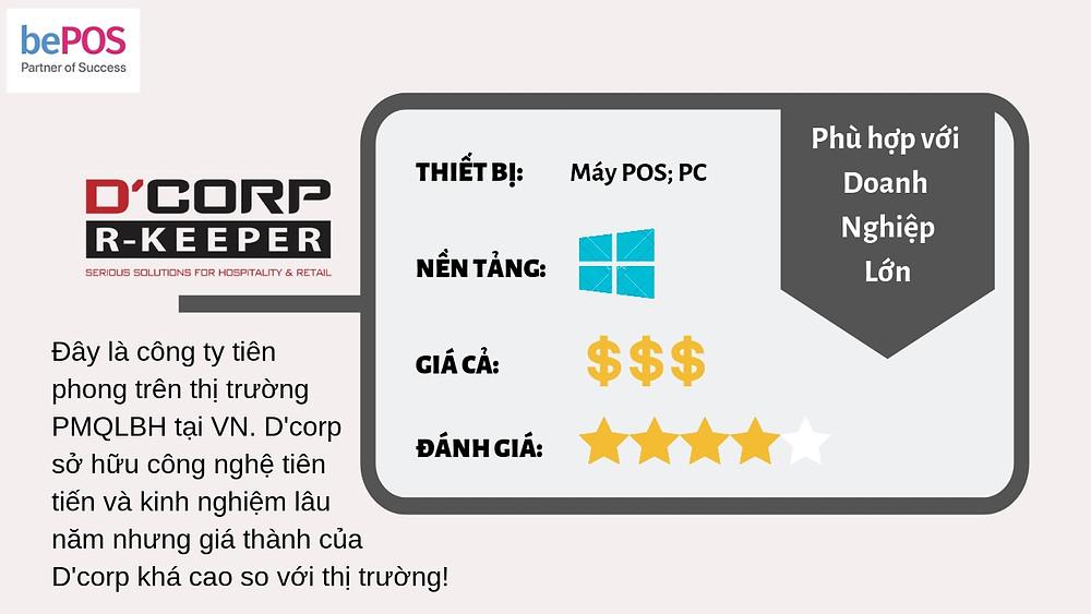 Phần mềm quản lý Dcorp R-keeper