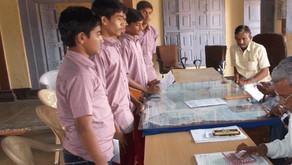 Kids self-help to get drinking water at school.