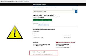 Polaris Universal LTD Arnaque