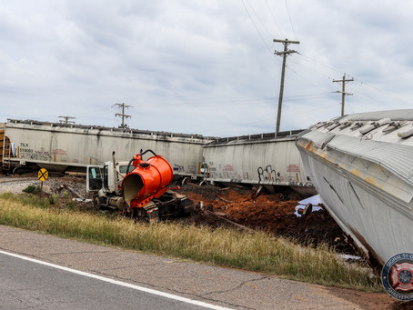 Train Derails After Hitting Semi, Injuring 1 on Highway 1