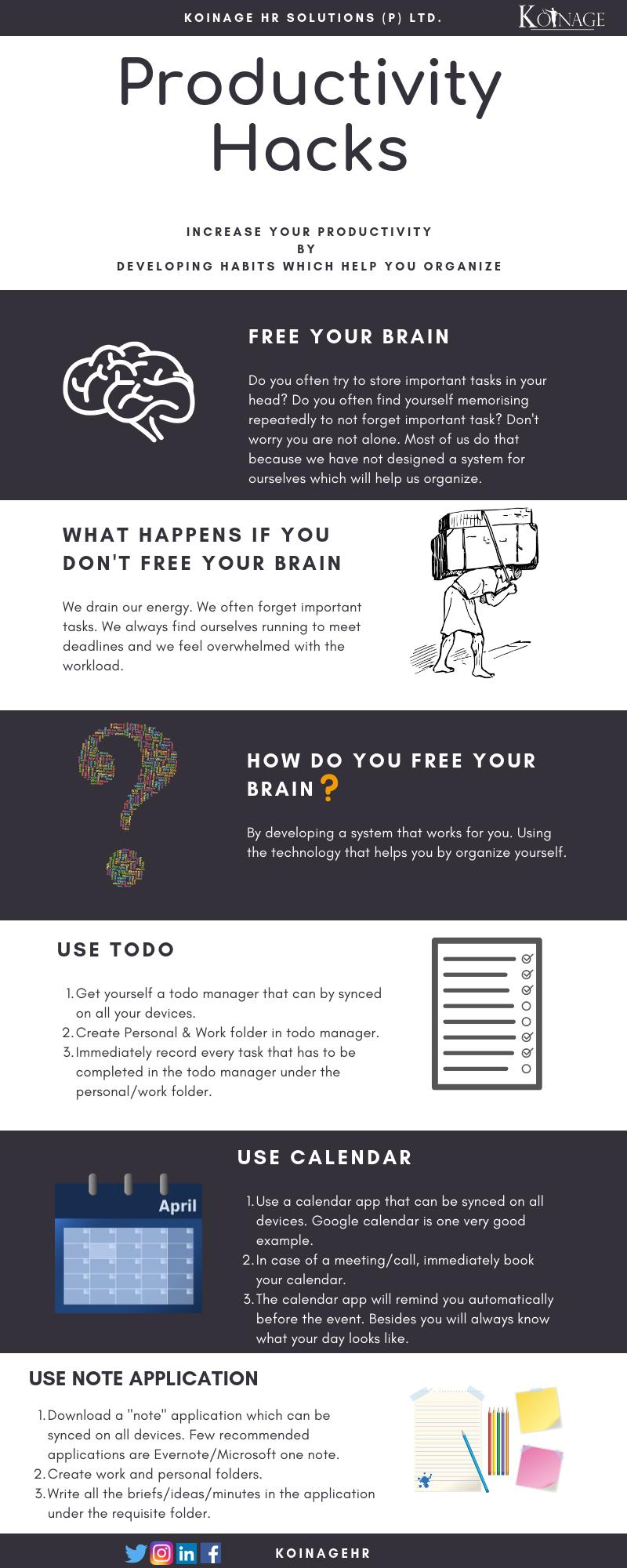 Productivity Hack Infographic