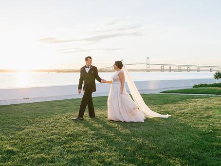 Marla + Greg's Elegant Minimalist Wedding in Rhode Island!