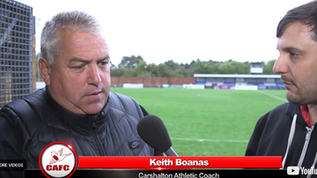 Post-match interview - Keith Boanas