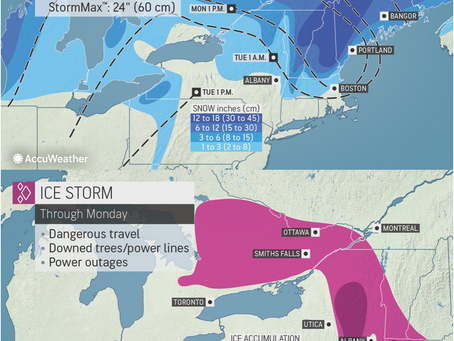 Snow and Ice Headed to Northeast