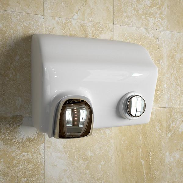 Běžný vysoušeč rukou na toaletě