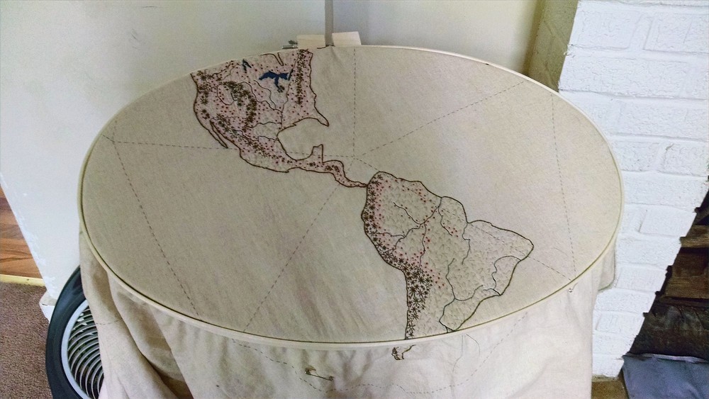 Shea Wilkinson Navigating a New World dymaxion map