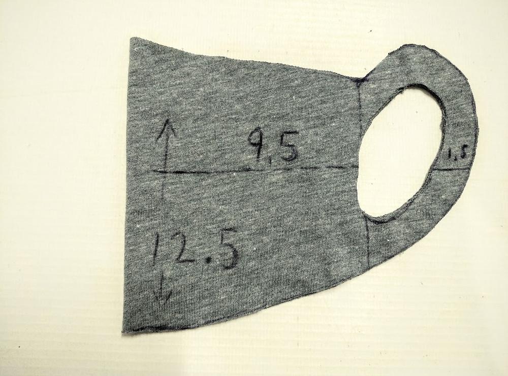 Folded t shirt mask pattern