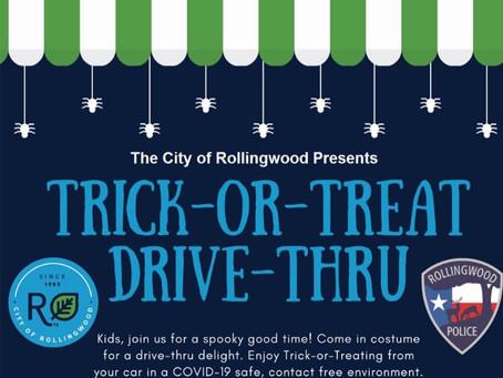 Rollingwood Trick or Treat Drive Thru